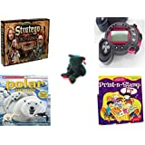 Children's Gift Bundle - Ages 6-12 [5 Piece] - The Lord of The Rings Stratego Game - POX Game of Alien Creation and Universal Destruction Spino Toy - Ty Holiday TeddyBeanie Buddy Plush - Scholastic