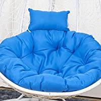 Reswealrc Hanging Hammock Chair Cushions Removable Washable Soft Pad Cushion with Pillow for Hanging Chair Swing Seat…
