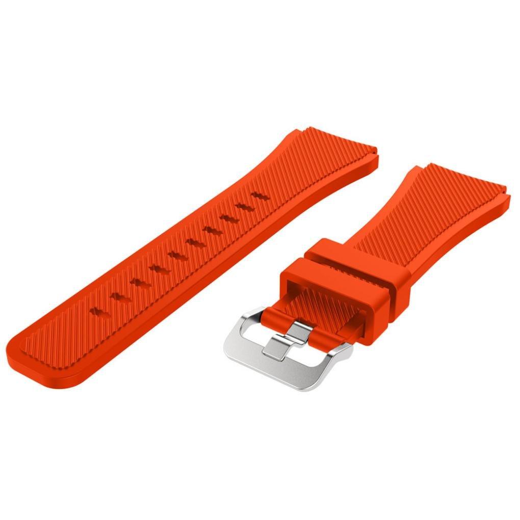 becoler手首交換用時計バンドストラップfor Samsung Gear s3 Frontier As show オレンジ オレンジ オレンジ B0796QT7RR