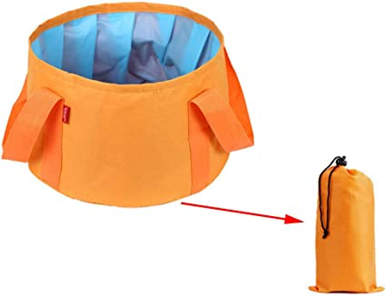 Multifunctional Collapsible Travel Wash Basin Portable Folding Bucket For