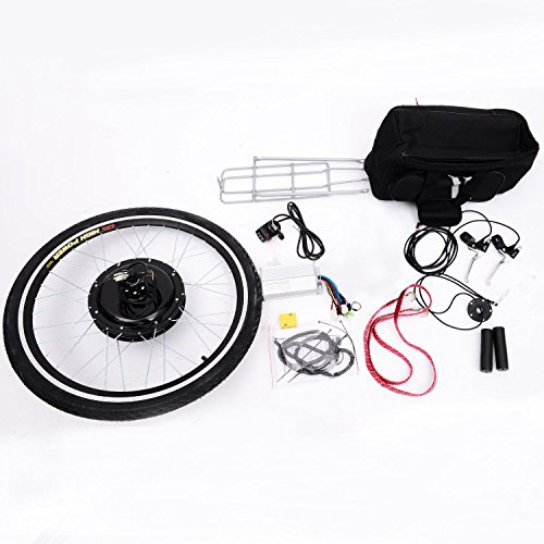 "Aosom 26"" Rear Wheel 48V 1000W Electric Battery Powered Bicycle Motor Conversion Kit"