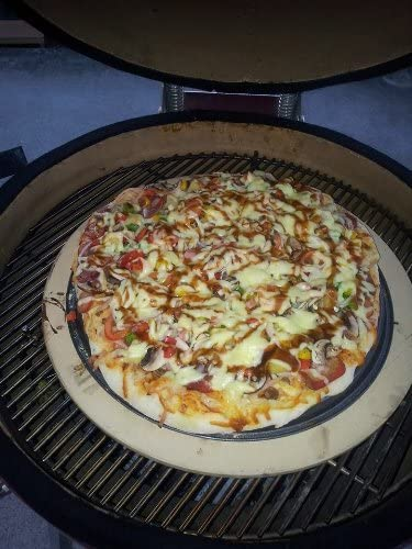 big green egg pizza baking stone xl size