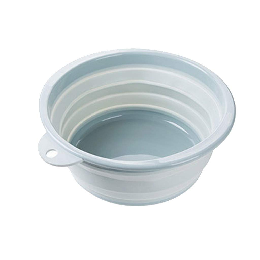 CapsA Collapsible Wash Basin Dishpan Portable Folding Catch Basin with Hanging Hole Save Storage Space for Home Kitchen Outdoor Camping Foot Wash Basin