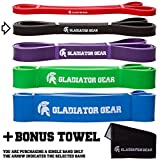 Pull Up Bands with BONUS Gym Towel & E-Guide | SAVE 30% IN JANUARY | For Pull Up Assist, Crossfit WOD, Yoga & Powerlifting | Choose from 1 of 5 Resistance Bands | Improve Your Pull Up Strength