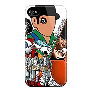 Anti-Scratch Hard Phone Covers For Iphone 4/4s With Support Your Personal Customized Trendy A Clockwork Orange Skin TimeaJoyce