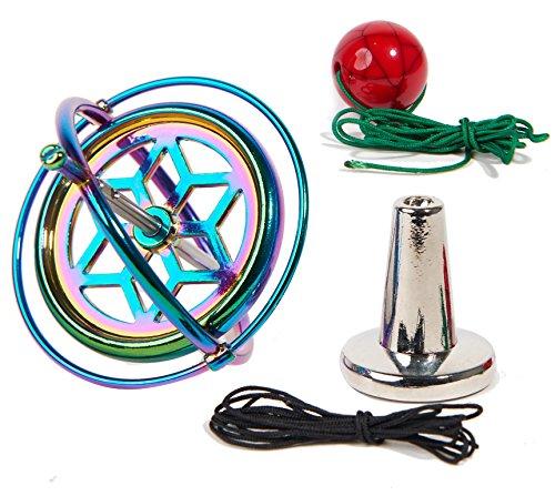 (Joytech Precision Gyroscope Kill Time Metal Anti-Gravity Spinner Balance Toy Colorful JA05)