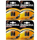 DURACELL LOT DE 8 PILES ALCALINES LR1 MN9100 N HORLOGE DE TYPE E90 910A 1,5 V