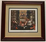 Pat Dye Signed Autographed Auto Framed & Matted Auburn Tigers Football Print w/4x SEC Champs - Proof