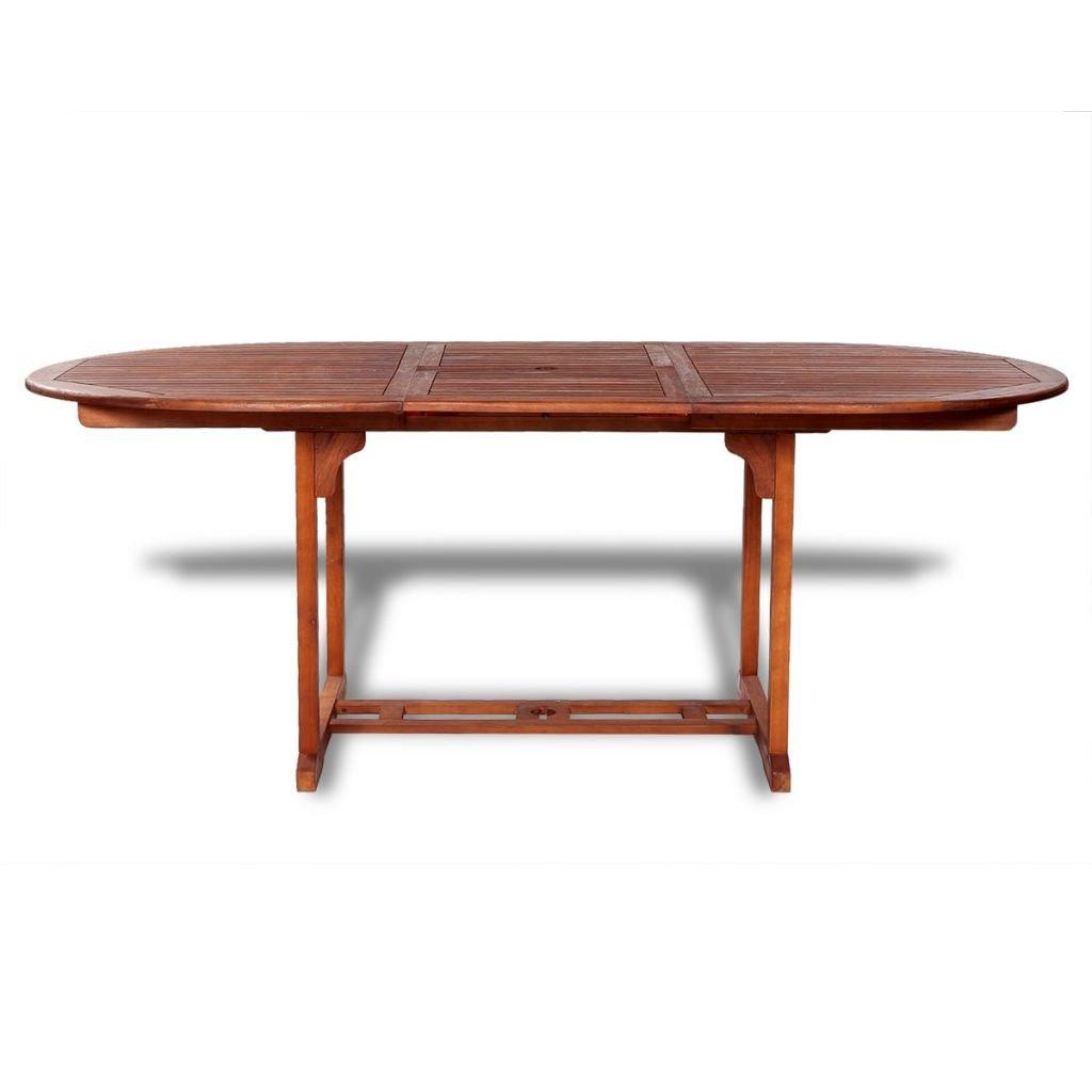 Mobilier de jardin vidaXL Table de salle à manger extensible ...