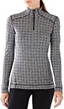 smartwool Women's Merino 250 Baselayer Pattern 1/4 Zip Dogwood White/Black XS
