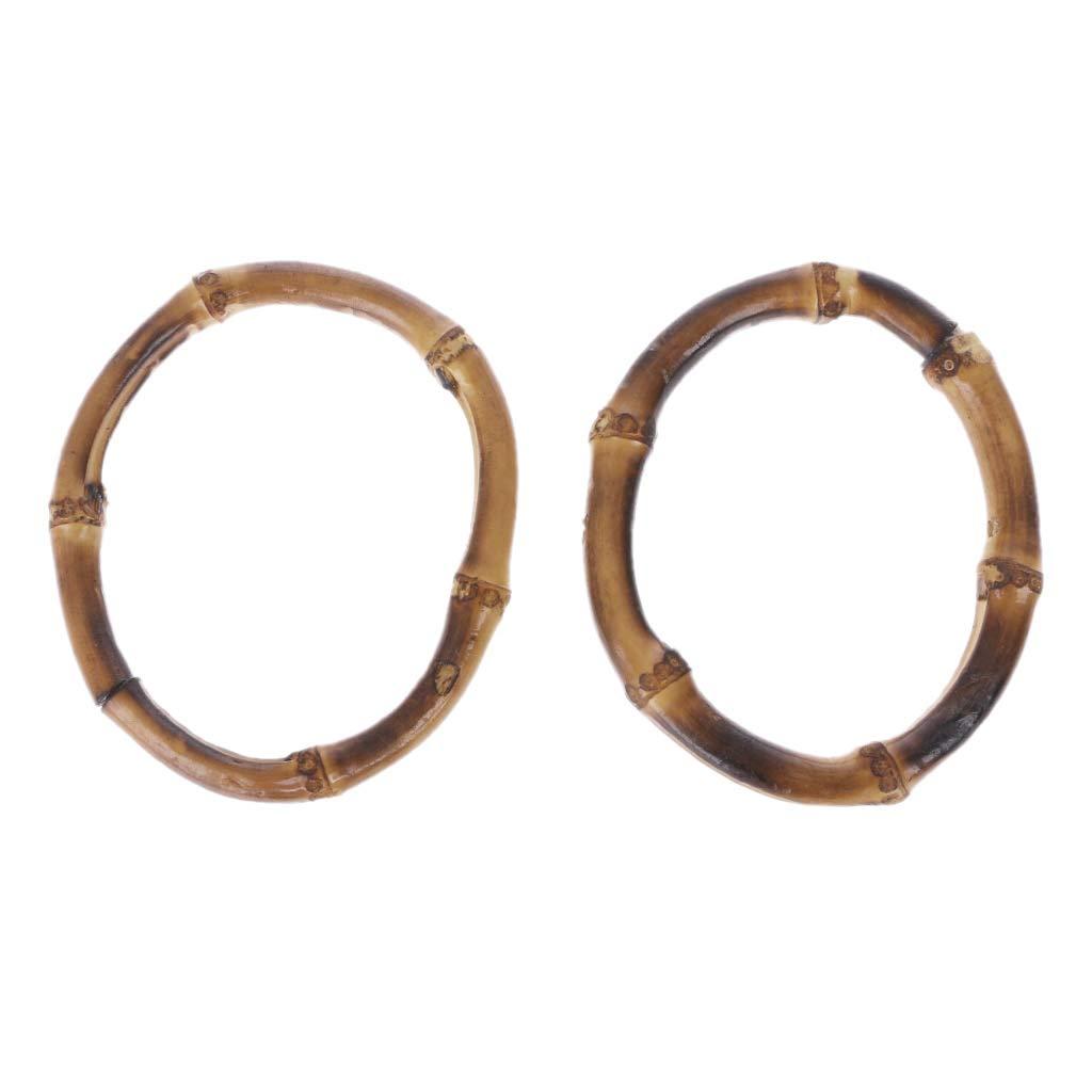 per fare la spesa e il fai da te Wuweiwei12 Maniglia rotonda in bamb/ù per borsa