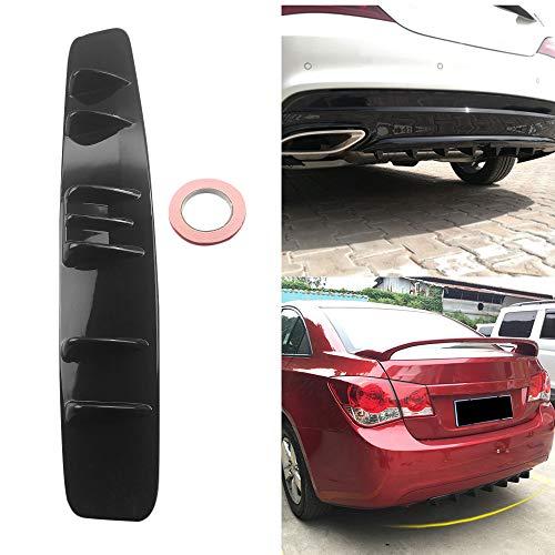 1 Pair of Universal ABS Car Modified Rear Bumper Canard Diffuser Spoiler Lip Splitter Fins Suuonee Rear Bumper Lip Splitter black