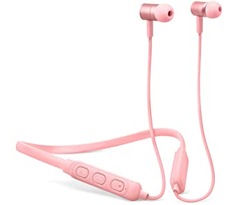 Fresh n Rebel Band-it - Auriculares Bluetooth inalámbricos deportivos, color rosa (