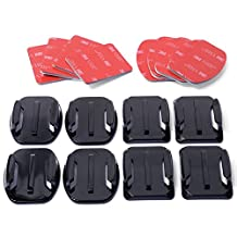 XCSOURCE® Helmet Accessories Kit Set 4x Flat 4x Curved Surface Mounts + 3M Adhesive For Gopro Hero 1/2/3 OS86
