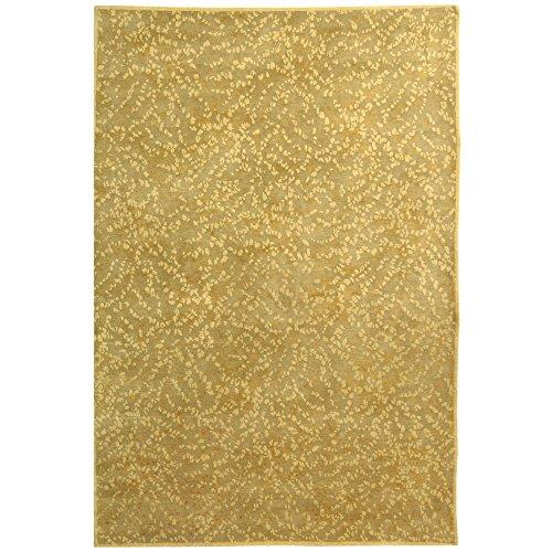 Safavieh Martha Stewart Collection MSR8712E Sakura Premium Wool and Silk Turtle and Amber Area Rug (6' x 9')