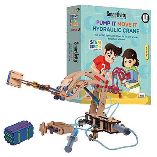Smartivity Pump It Move It Hydraulic Crane , STEM Learning Toys, Creative Construction Engineering, Educational Building Set, Boys & Girls Ages 8 9 10+ Year Old, Science Kit, DIY Kit, ()