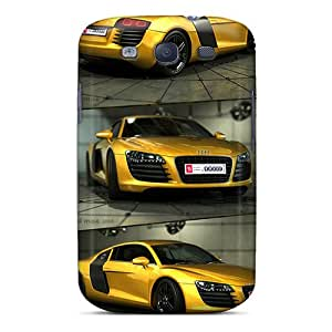 Shock Absorbent Hard Cell-phone Cases For Galaxy S3 With Allow Personal Design Vivid Audi R8 Pattern JoanneOickle