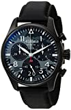 Image of Alpina Men's 'Startimer' Swiss Quartz Stainless Steel and Leather Casual Watch, Color:Black (Model: AL-372BMLY4FBS6)