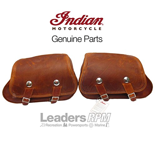Tan Motorcycle Saddlebags - 7