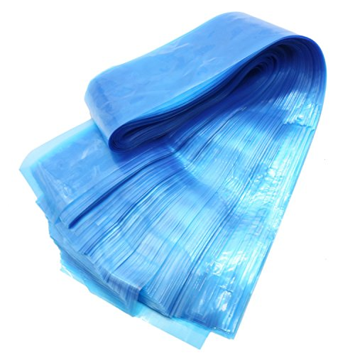 RTNOW Blue Clip Cord Sleeves Bags Disposable Covers for Tattoo Machin , 100 Pcs