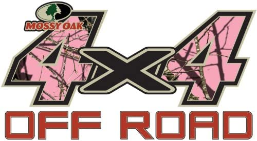 Mossy Oak Graphics 13001-BUP-S Break-Up Pink 7 x 3.75 4x4 Off-Road Style Decal