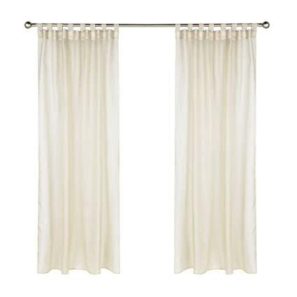 Outdoor Decor Escape Hook And Loop Sheer Tab Panel 54 Inches Wide By 84 Long