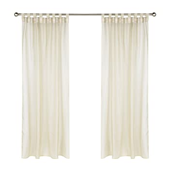 Commonwealth Outdoor Decor Escape 108u0026quot; Tab Curtain Panel In Ivory
