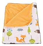 Deluxe Plush Blanket for Baby Boys and Baby Girls (Woodland Animals)
