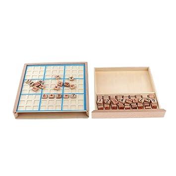 SM SunniMix Juego De Mesa Sudoku con Cajones Y Piezas De Ajedrez ...