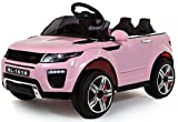 Pink Kids Range Rover Evoque Style 4 x 4 Electric / Battery Ride on Car 12v with Opening Doors
