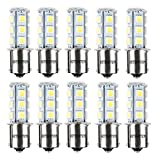 Automotive : HOTSYSTEM 12V 1156 7506 1003 1141 LED SMD 18 LED Bulbs Interior RV Camper White 10-pack