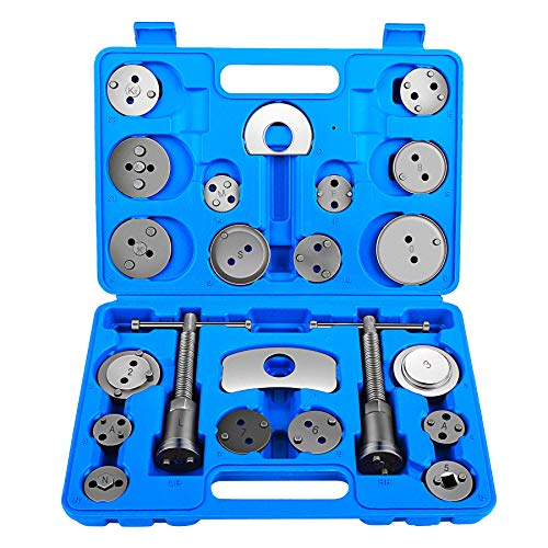 (OrionMotorTech 24-Piece Disc Brake Caliper Tool Kit, Front and Rear Brake Piston Compression Tool, Professional Automotive Mechanic Tool Set)