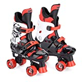 Osprey Boys Quad Skates - Black/White/Red, Size 13-3
