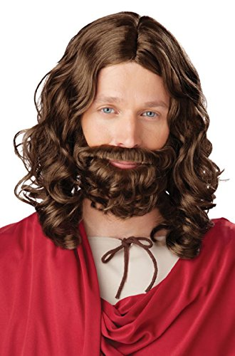 Costumes That Need A Beard (Biblical Jesus Wig and Beard Adult Set Brown)