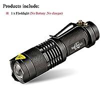 SOLEDI Set A, CREE XML T6 3000LM : CREE XM L2 Mini Led Waterproof Flashlight 3800 Telescoping Lumens lanterna Torch Use 18650 Rechargeable Battery Tactical