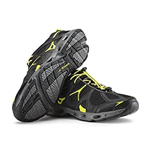 Speedo Men's Hydro Comfort 4.0 Water Shoe, Black/Sulphur Spring, 8 C/D US