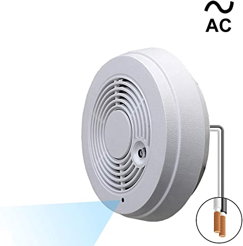 WF-402VAC 1080p Super Low Light WiFi IP Spy Camera Made with IMX323 Sony Chip, Recording Remote Internet Access, Camera Hidden in a Fake Smoke Detector 120VAC, Wall Mount