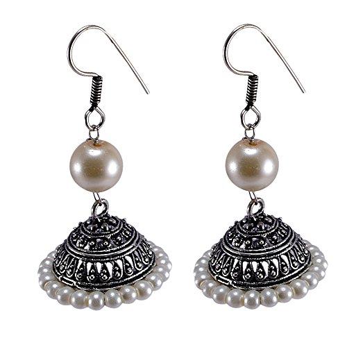 silvesto Inde Rouge perles quartz plaqué argent 925Boucles d'oreille pendantes PG 24551
