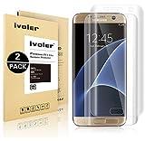 Galaxy S7 Edge Schutzfolie [3D Full Coverage], iVoler [2 Pack] Premium Kante zu Kante Full Screen Gebogene Kante HD-Kristall Schutzfolie Displayschutz für Samsung Galaxy S7 Edge- [voller Deckung] [keine Blase] [Premium Klar] [Blendfreie]- Lebenslange Garantie