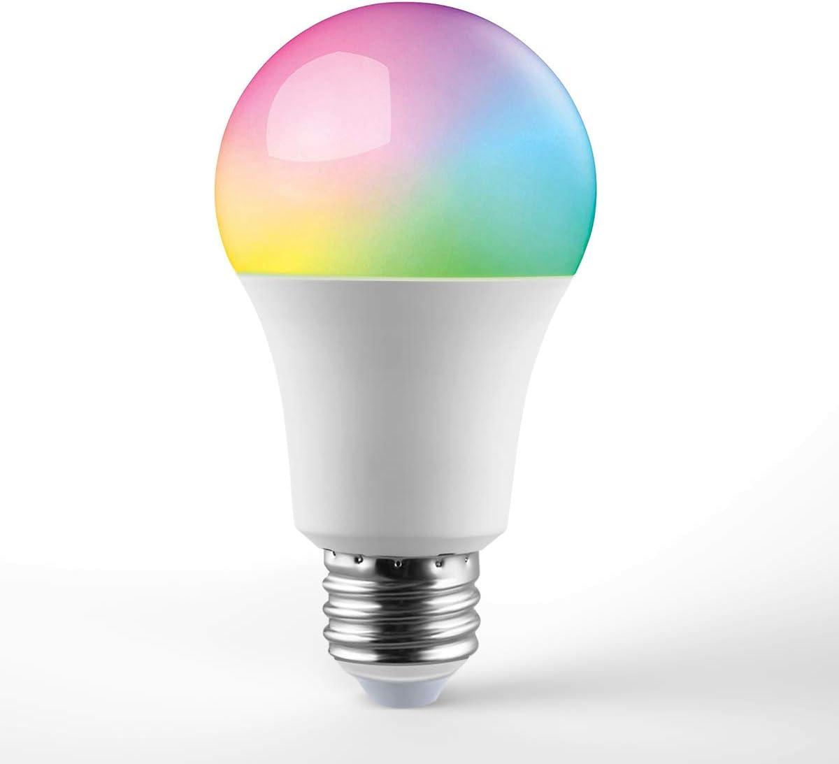 Alexa and Google Assistant KMC Smart LED Light Bulb,Works with Apple HomeKit 2 Pack