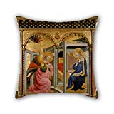 Oil Painting Stefano D'Antonio Di Vanni - The Annunciation Pillowcase 16 X 16 Inch / 40 By 40 Cm For Girls,club,dinning Room,husband,valentine,sofa With Both Sides
