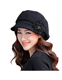 REGITWOW Womens Visor Beret Newsboy Hat Caps for Ladies Merino Wool Hats