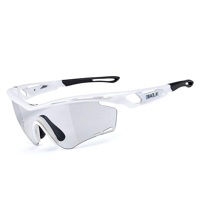 Beydodo Gafas Antivaho Seguridad Gafas Deporte Polarizadas Gafas de Sol Blanco Negro Gafas Protectoras: Amazon.es: Ropa y accesorios
