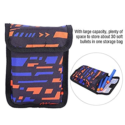 Tbest Soft Bullet Storage Bag,Soft Bullet Storage Bag for Nerf Refill Elite Series Portable Cartridge Pouch Holders Handbag Darts Carry Bag with Metal Buckle: Sports & Outdoors