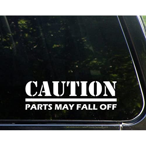 """Hot Caution Parts May Fall Off - 9"""" x 3"""" - Vinyl Die Cut Decal/ Bumper Sticker For Windows, Cars, Trucks, Laptops, Etc. free shipping"""