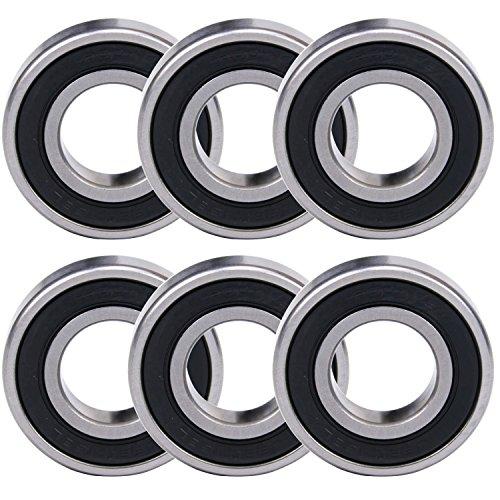 1/2' Sealed Ball Bearings (WPHMOTO 6PCS 6004RS Bearings 20mm x 42mm x 12mm (0.8'' x 1.7'' x 0.5'') For ATV Quad Pit Dirt Bike)