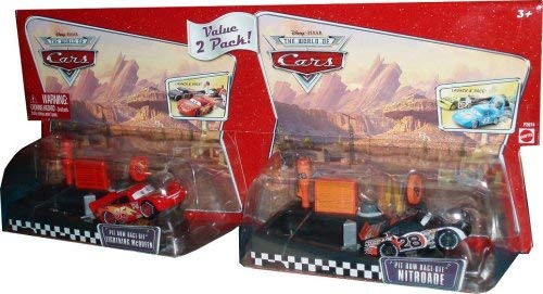 (Value 2 Pack Pit Row Race Off: Lightning McQueen Pit Row Race Off Nitroade The World of Cars )