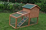 ALEKO ACCRH56X25X39 Wooden Fir Pet House Chicken