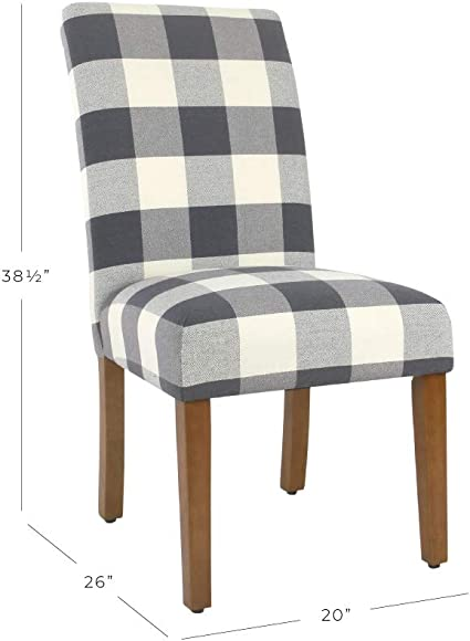 Meadow Lane Blue Plaid Parsons Dining Chair