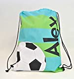 Tin Tree Gifts Customized Drawstring Backpack Soccer Personalized Backpack